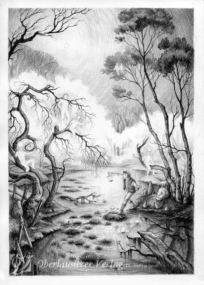 The Black Pond - graphite