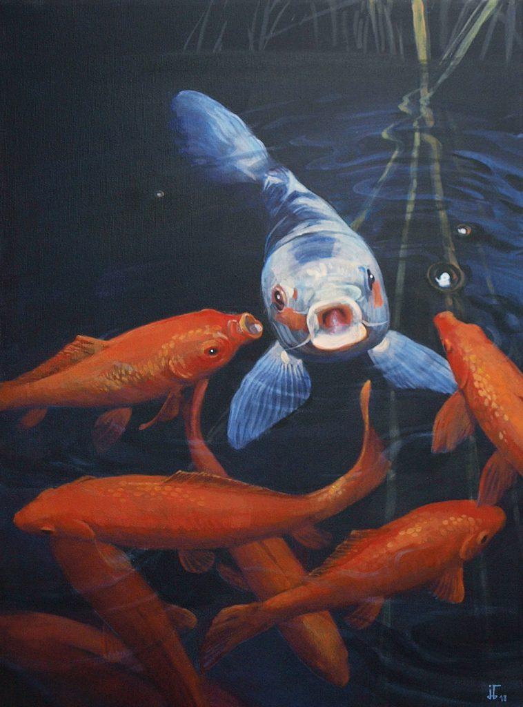 Goldfishes - acrylics