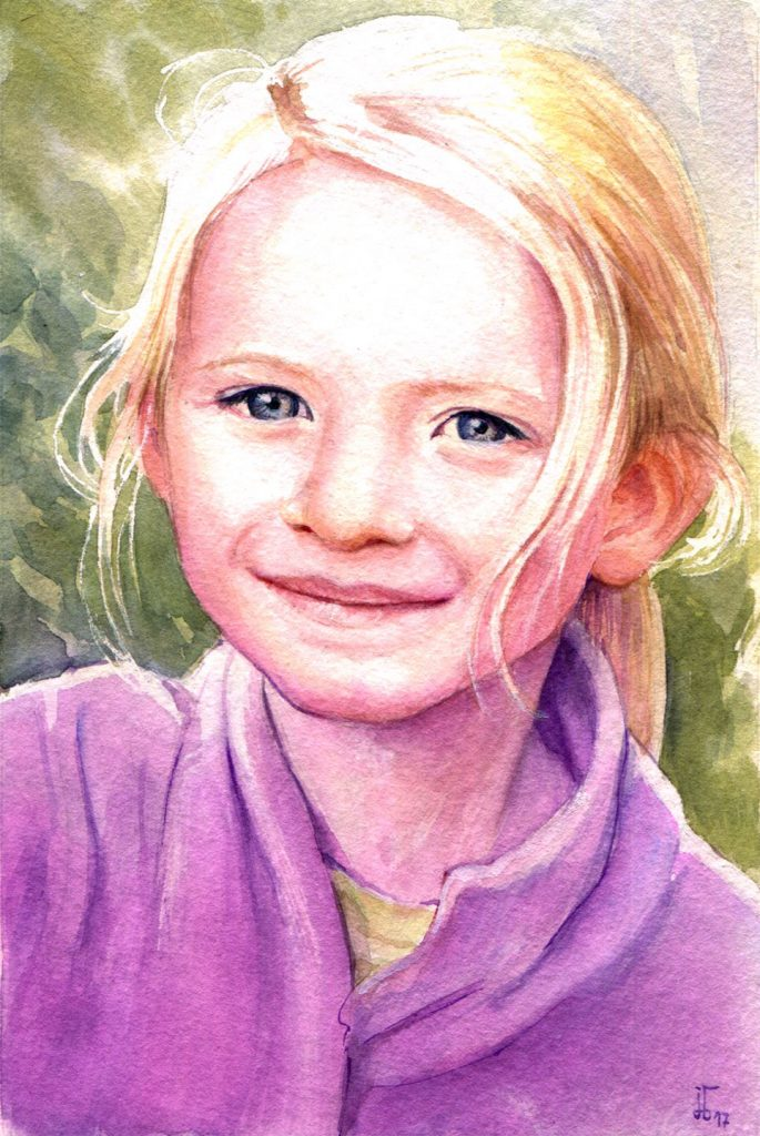 Aquarell - Illustration - Portrait - Kind