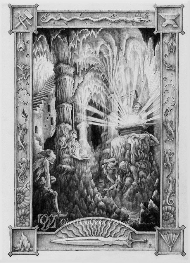 Bleistift - Illustration - Sagenbuch - Das Geisterschwert