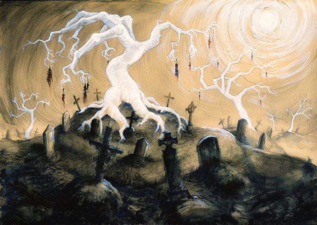 """Shadows Traum"", American-Gods-Fanart, Tusche, Gouache, digitale Bearbeitung"