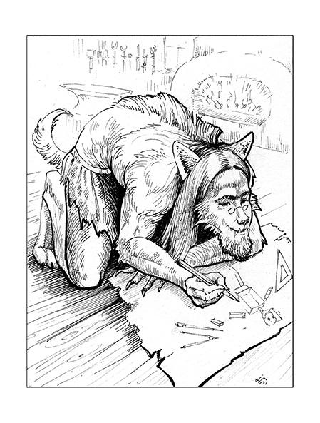 earthdawn werewolf, ink