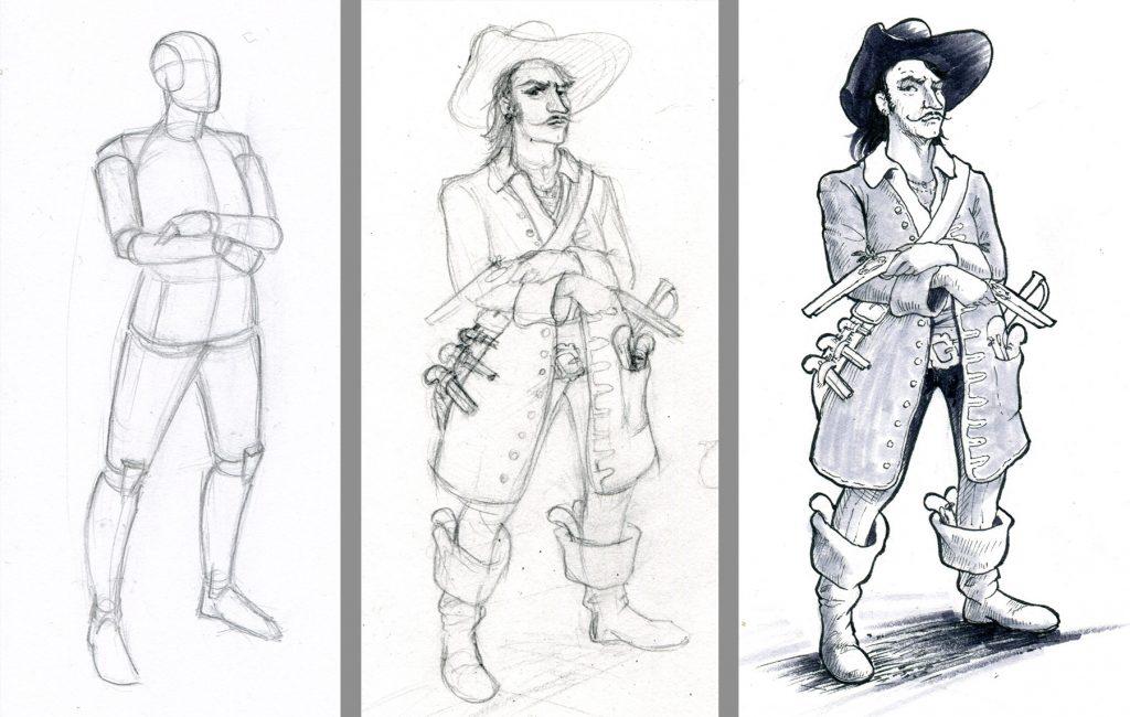 character design, Figurenzeichnung, Manga, Comic, Pen & Paper, Malkurs
