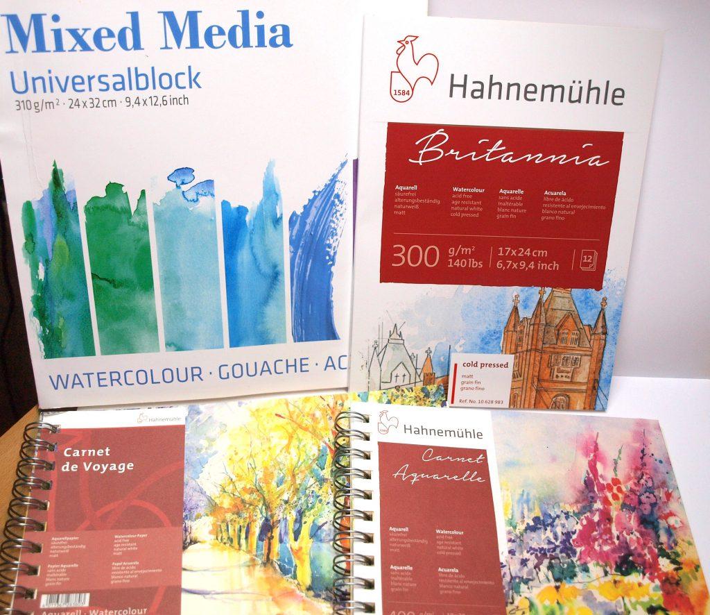 Hahnemühle Papier, Mixed Media Universalblock, Britannia matt, Carnet de Voyage Aquarell, Carnet Aquarelle