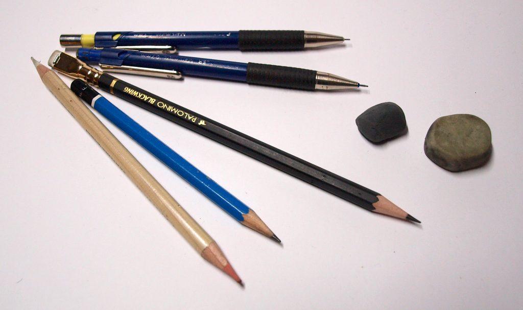 weitere Materialien - Bleistifte und Radiergummis