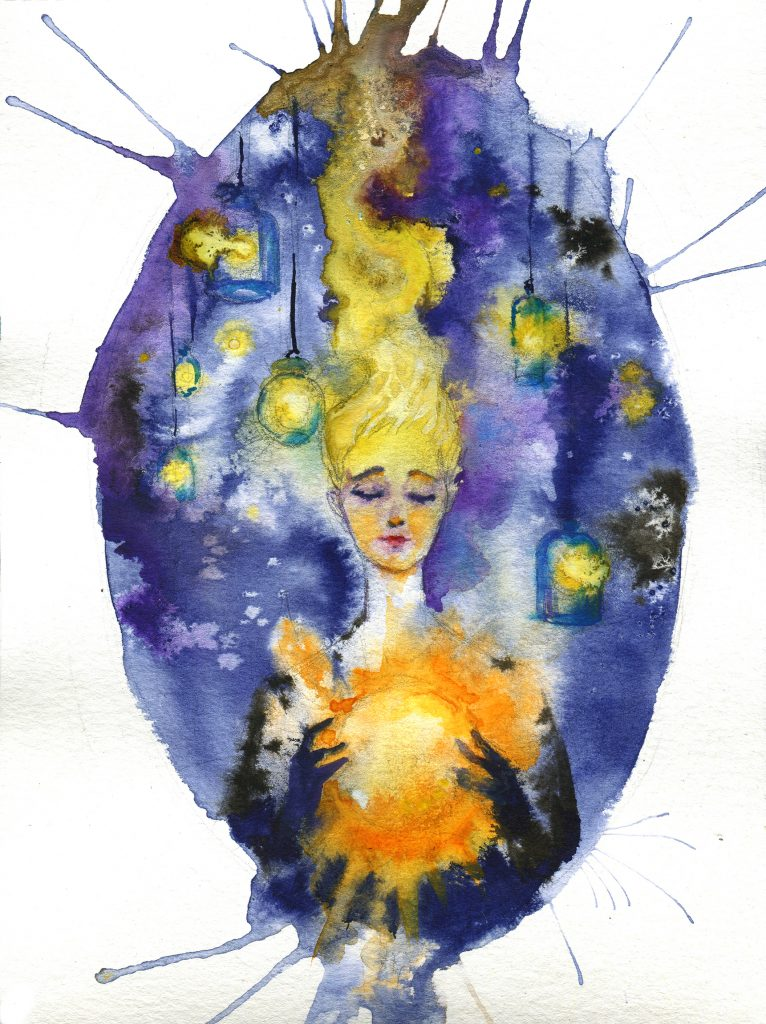 solar collector - daily spitpaint - water colour illustration - magic - sun - fantasy